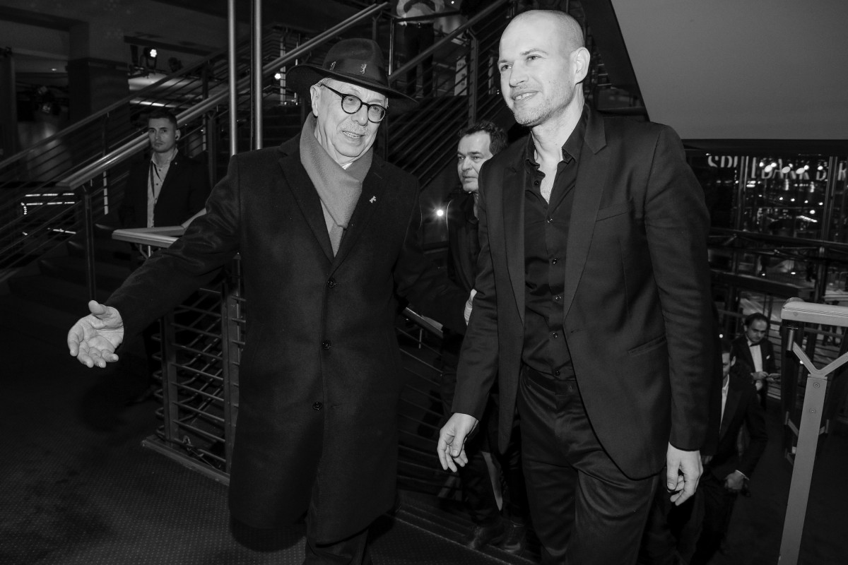 Dieter Kosslick, Nadav Lapid   The Festival Director guiding the director into the theatre.     Competition  –   Synonymes  | Synonyms | Synonyme     Feb 13, 2019