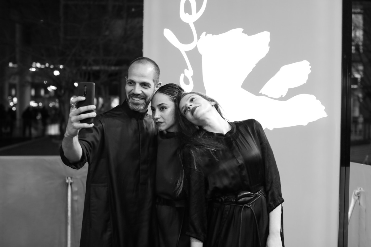 Yousef (Joe) Sweid, Moran Rosenblatt, Neta Riskin   Selfie time at the premiere at the Zoo Palast.     Berlinale Series  –   False Flag 2      Feb 13, 2019