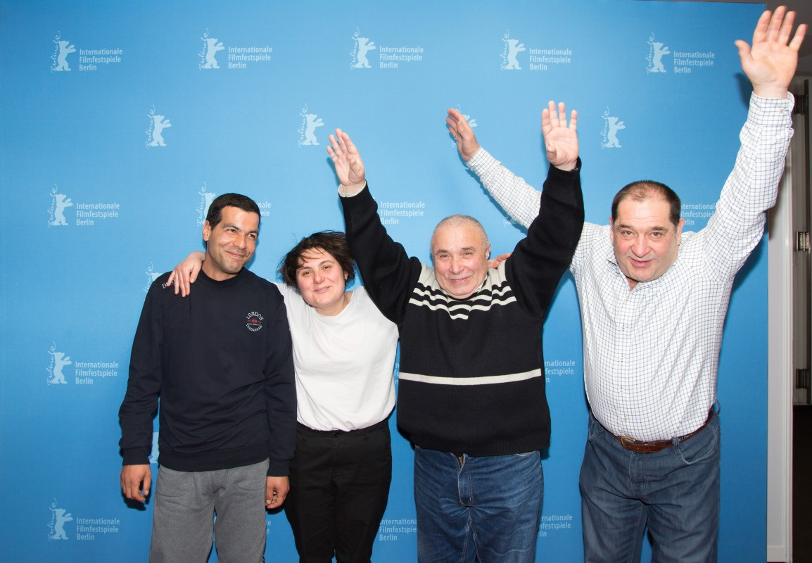 Hristiana Raykova   The director (second from left) with three of the documentary's protagonists.     Perspektive Deutsches Kino  –   Die Grube  | The Pit     Feb 14, 2019