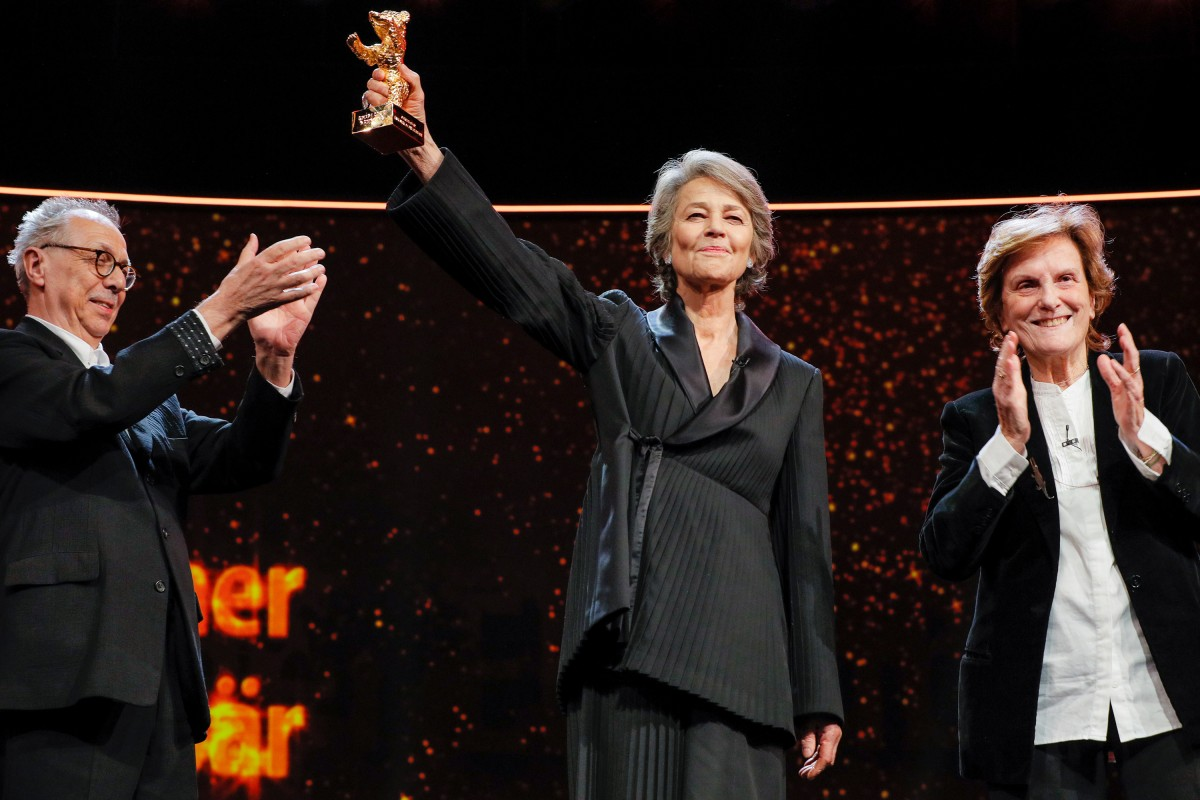 Dieter Kosslick, Charlotte Rampling, Liliana Cavani   The Festival Director with the laureate and the laudator.     Homage  – Honorary Golden Bear    Feb 14, 2019
