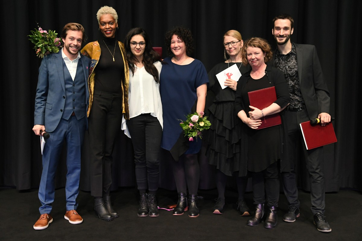 Tobias Krell, Faren Humes, Zamarin Wahdat, Diana Ward, Maria Solrun, Nanouk Leopold, Pascal Plante   The director (2. from left), the cinematographer (3. from left) and the producer (4. from left) with the International Jury.     Generation  –   Liberty   – The Special Prize of the Generation 14plus International Jury for the Best Short Film    Feb 15, 2019
