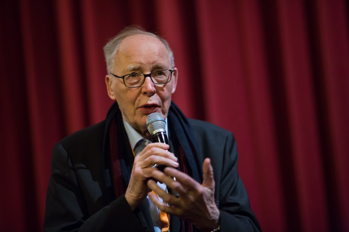 Ulrich Gregor   The longtime head of  Forum  moderated the film talk after the screening.     Forum  –   Sátántangó  | Satantango     Feb 16, 2019