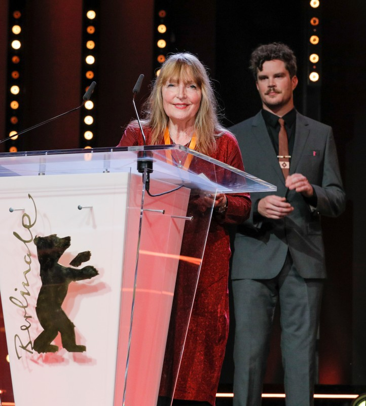 Eva Bourke, Jeffrey Bowers   The mother of director Benjamin de Burca is receiving the award substitutionally for her son and the co-director Bárbara Wagner.     Berlinale Shorts  –   Rise   – Audi Short Film Award    Feb 16, 2019