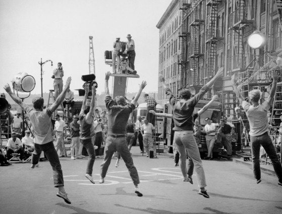 Shooting 'West Side Story' (USA 1960/61, directed by: Robert Wise, Jerome Robbins); Source: Cinémathèque Suisse, Lausanne