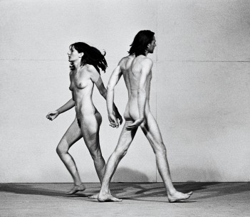 Marina Abramovic The Artist is Present   Panorama  USA 2011  by: Matthew Akers The black and white photograph of Ulay and Marina Courtesy of Marina Abramovic