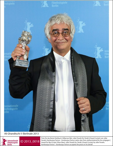 Kamboziya Partovi   Prizes, Honours & Juries | 2. Silver Bears  Award for Best Script (Silver Bear): Jafar Panahi for Pardé (Closed Curtain) by Jafar Panahi, Kamboziya Partovi - Kamboziya Partovi accepted the prize on his behalf  ID 2013_0018